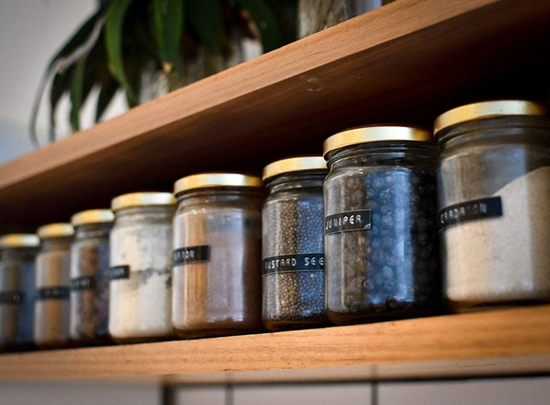 Pantry organising with containers