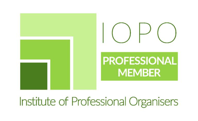 IOPO professional Member green logo. Institute of Professional Organisers