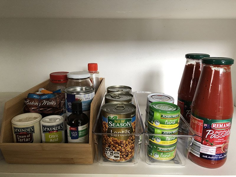 should I put my clutter into containers?