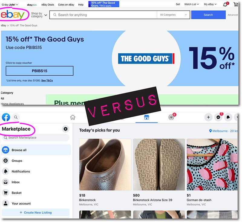 ebay versus marketplace