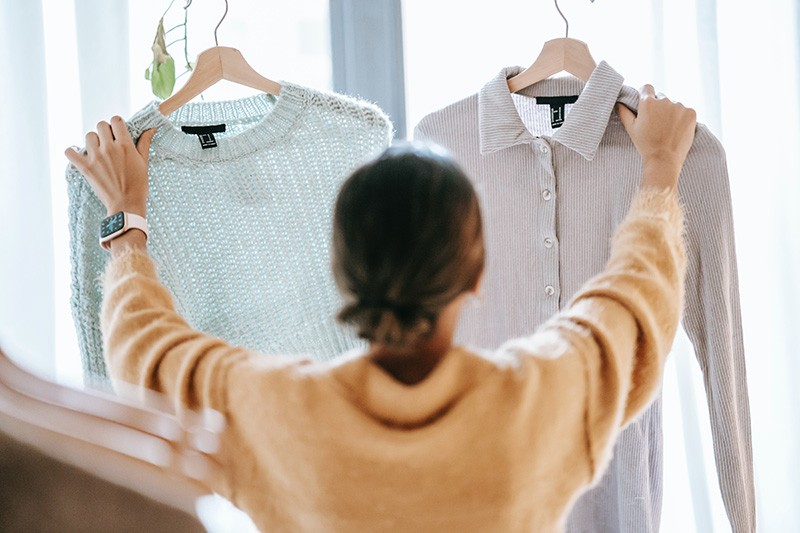decluttering and making decisions